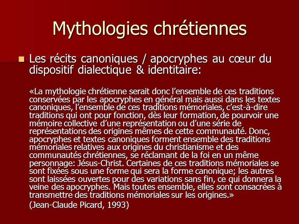 Mythologies chrétiennes Les récits canoniques / apocryphes au cœur du dispositif dialectique & identitaire: Les récits canoniques / apocryphes au cœur