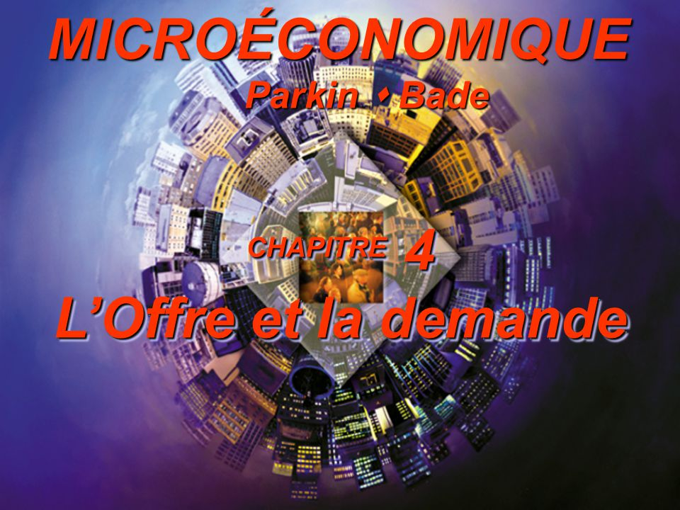 4-32 Introduction à la microéconomique Courbe doffre 0246810 1 2 3 4 5 6 Quantité (millions de cassettes/semaine) Prix (dollars par cassette) Offre des cassettes a b c d e Courbe doffre