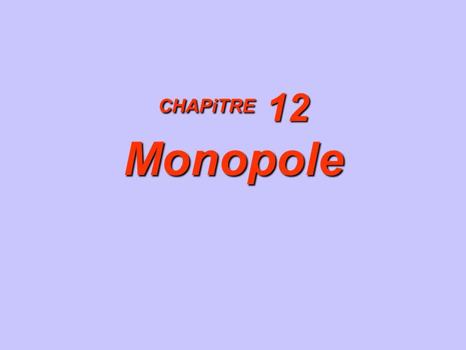 CHAPiTRE 12 Monopole