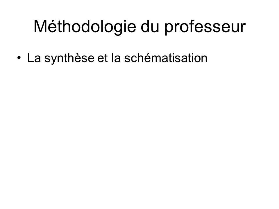 Méthodologie du professeur La synthèse et la schématisation