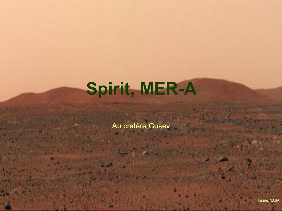Spirit, MER-A Au cratère Gusev Image: NASA