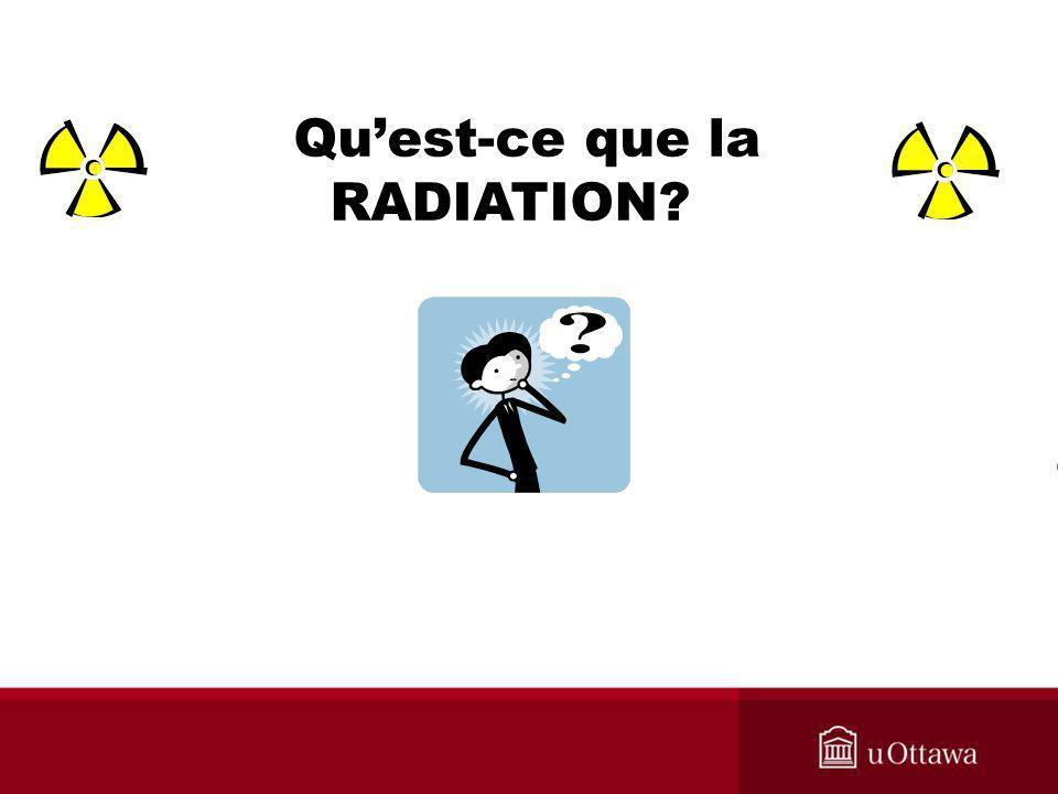 WHAT IS RADIATION ? Quest-ce que la RADIATION?