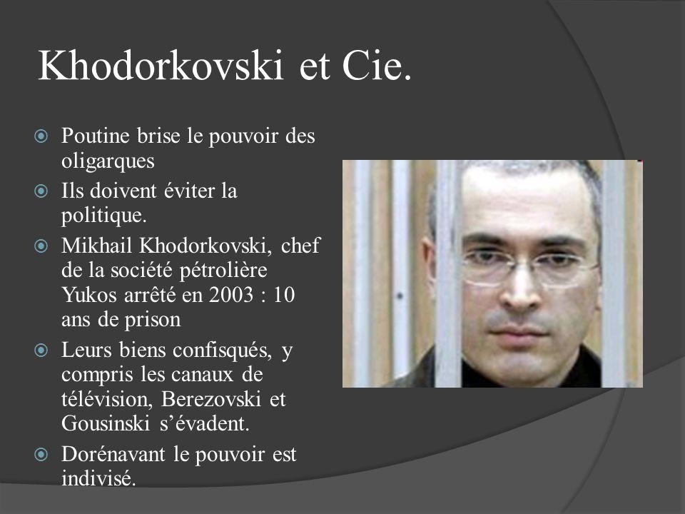 Khodorkovski et Cie. Poutine brise le pouvoir des oligarques Ils doivent éviter la politique. Mikhail Khodorkovski, chef de la société pétrolière Yuko