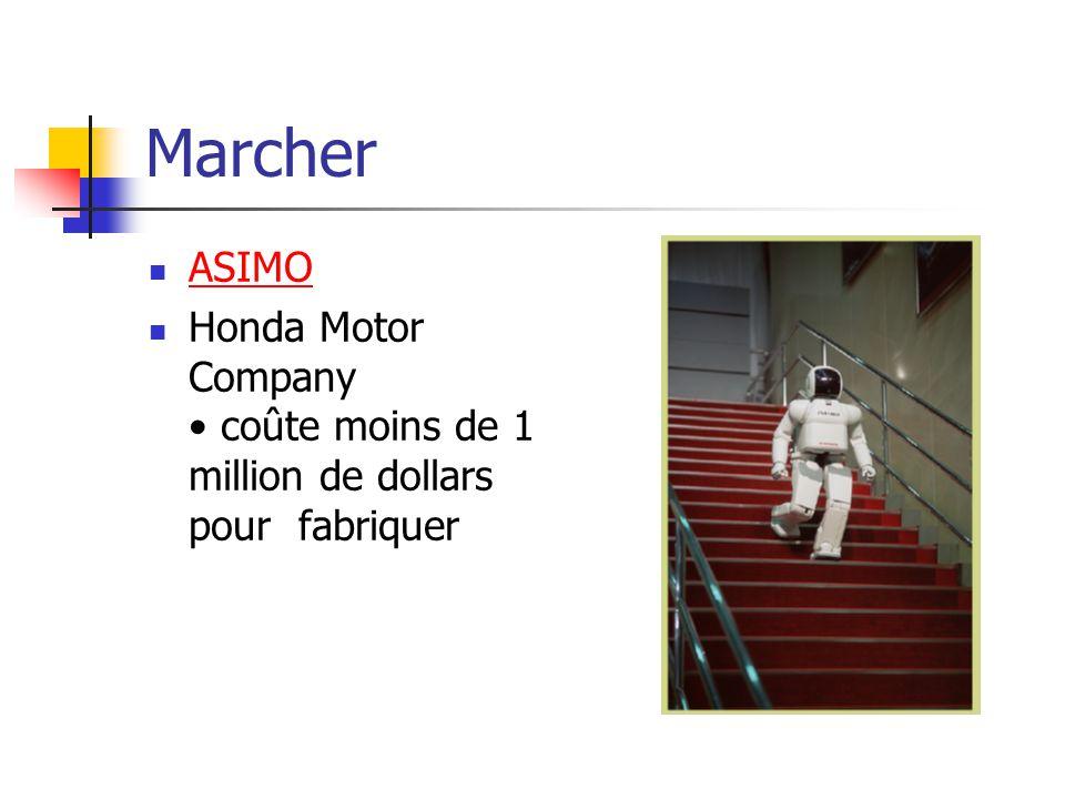 Marcher ASIMO Honda Motor Company coûte moins de 1 million de dollars pour fabriquer