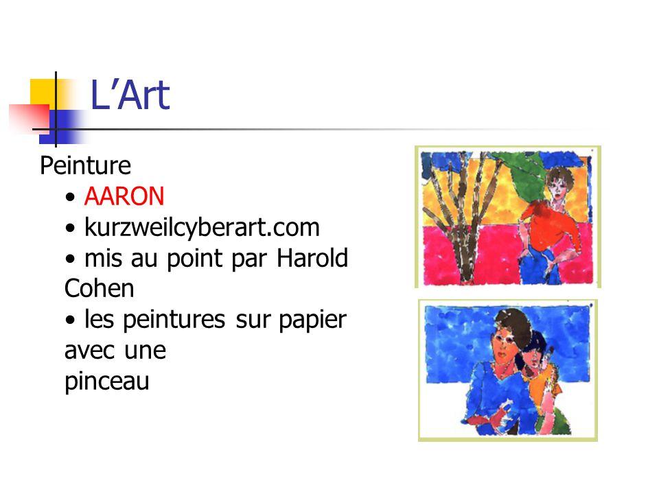 LArt Peinture AARON kurzweilcyberart.com mis au point par Harold Cohen les peintures sur papier avec une pinceau