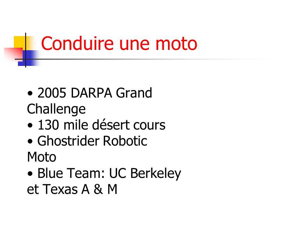 Conduire une moto 2005 DARPA Grand Challenge 130 mile désert cours Ghostrider Robotic Moto Blue Team: UC Berkeley et Texas A & M