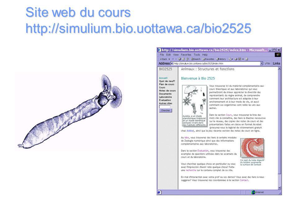 Site web du cours http://simulium.bio.uottawa.ca/bio2525