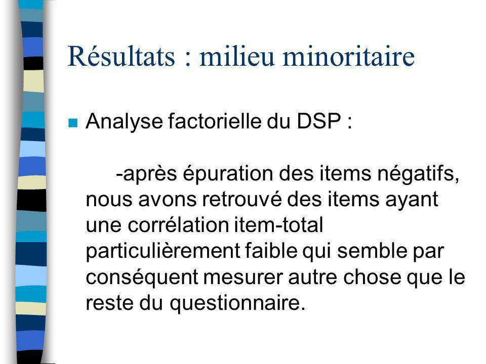 Méthodologie n Instruments : 1. Stress = DSP 2. Résolution de problèmes sociaux = RPS