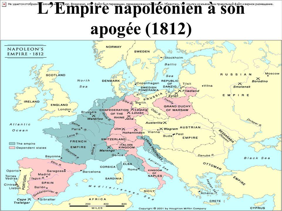 LEmpire napoléonien à son apogée (1812)