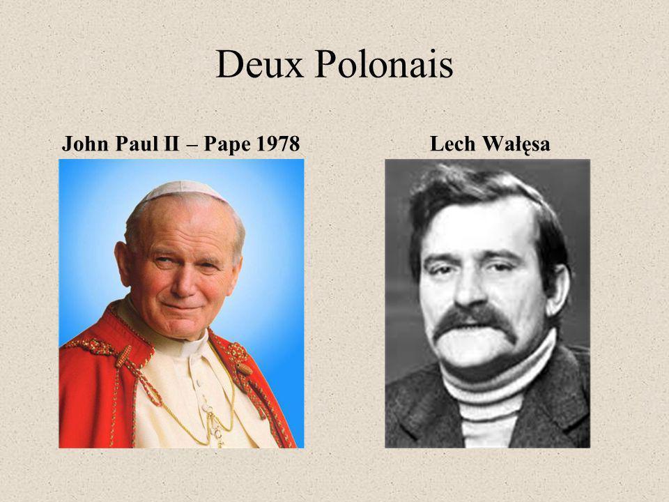 Deux Polonais John Paul II – Pape 1978 Lech Wałęsa