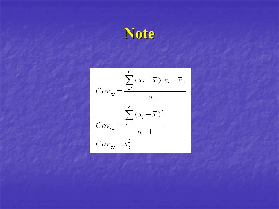 Exemple Comme on ne peut pas comparer des mesures de covariances entrent-elles, il faut la standardiser.