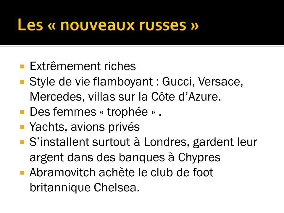 Extrêmement riches Style de vie flamboyant : Gucci, Versace, Mercedes, villas sur la Côte dAzure.