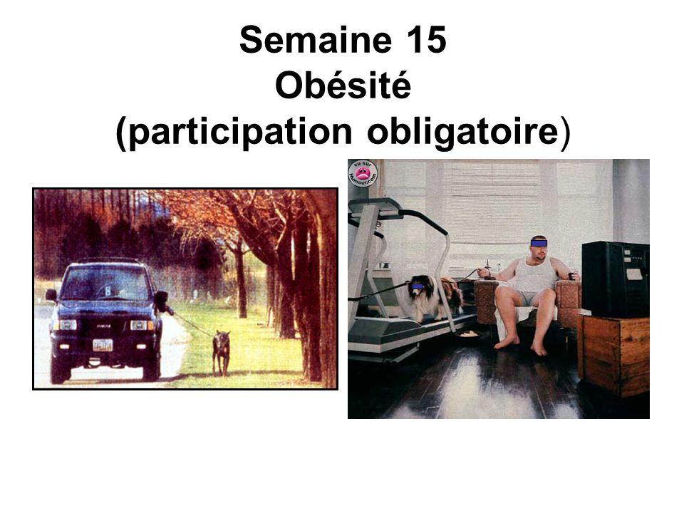 Semaine 15 Obésité (participation obligatoire)