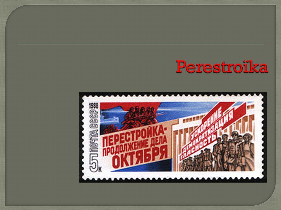Dernier dirigeant de lURSS (1985-91) Devient chef du PCUS en avril 1985 Propose des mesures pour résoudre la situation économique Fait venir Boris Eltsine de Sverdlovsk à Moscou