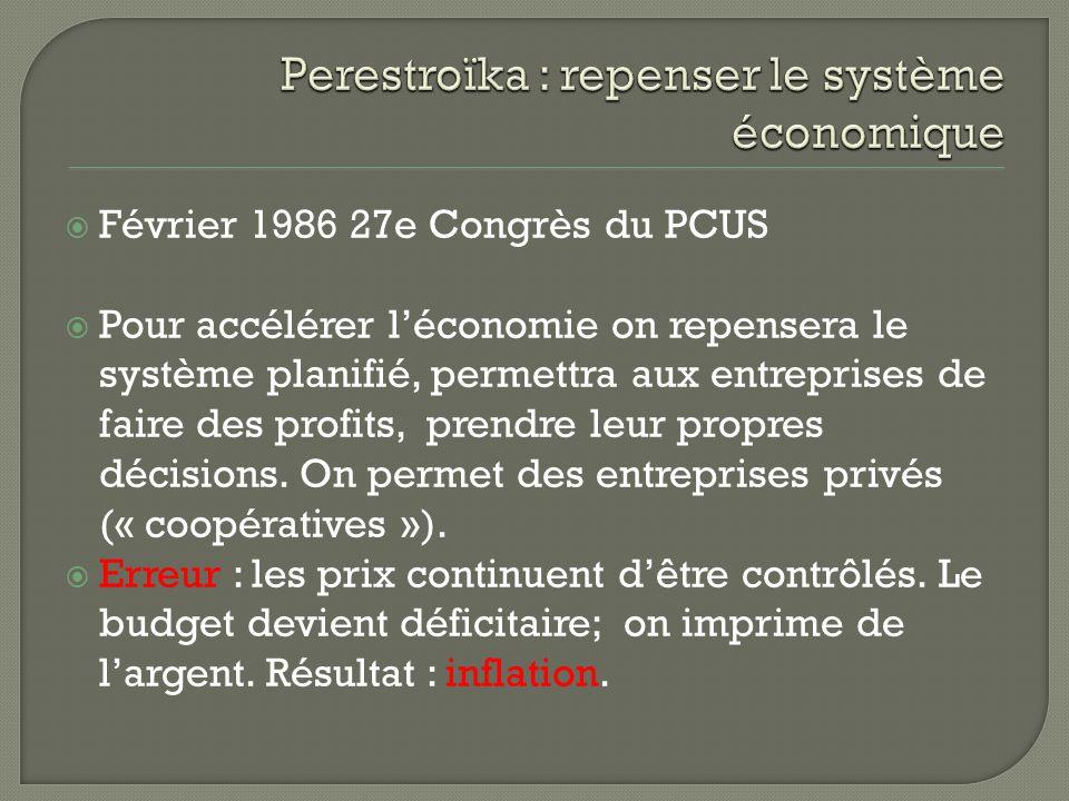 Annoncé en 1987, vise une discussion franche des problèmes qui amènera des améliorations dans léconomie.
