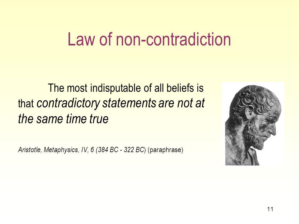 10 Que cest essentiellement une IF Un grand nombre de définitions de IF ont été proposées Une définition possible: une IF est une contradiction entre