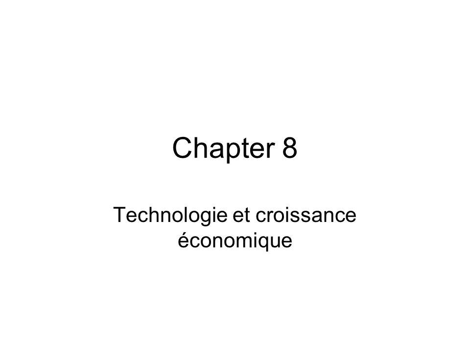Chapter 8 Technologie et croissance économique