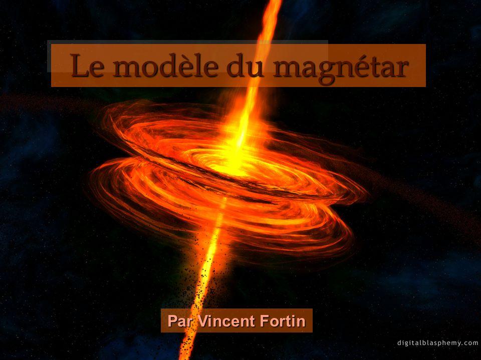 Explication des SGR à partir du modèle du magnétar Les électrons voyageant à lextérieur du magnétar entrent souvent en collision avec des photons, produisant ainsi des photons à hautes énergies.