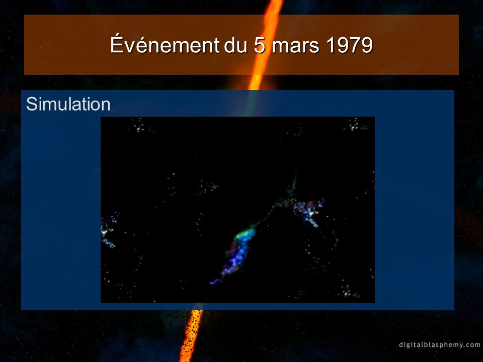 De 1979 à 1985 16 autres rafales de rayons gamma détectées venant de la même direction que lévénement de 1979, moins intenses que la première fois.