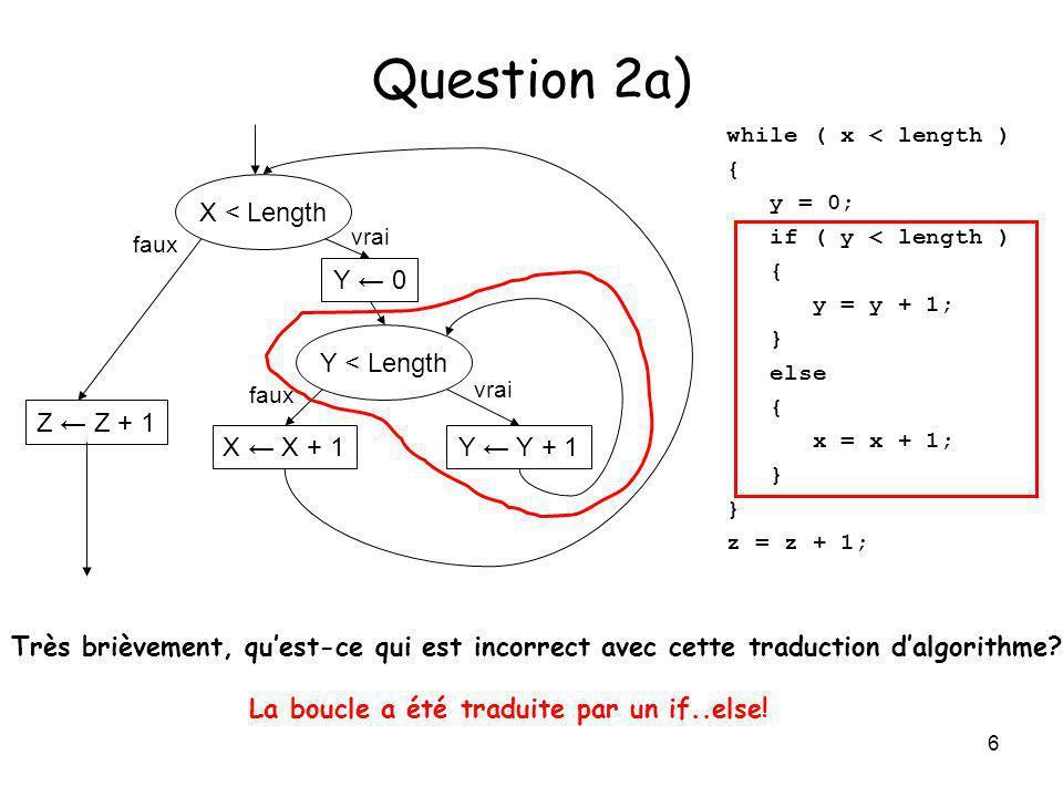 7 Question 2b) X > 0 .A < X.