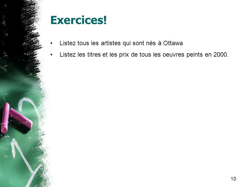 10 Exercices.