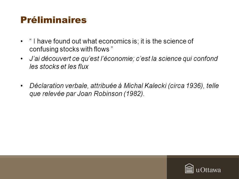 Les apports SFC à la théorie PK Formalisation cohérente des intuitions de Minsky Formalisation cohérente du marché boursier Introduction systématique de normes stock-flux Intégration du réel et du financier Intégration de la monnaie comme flux (théorie du circuit) et comme stock (Keynes, choix de portefeuille) SFC donne un sens au temps historique de Joan Robinson