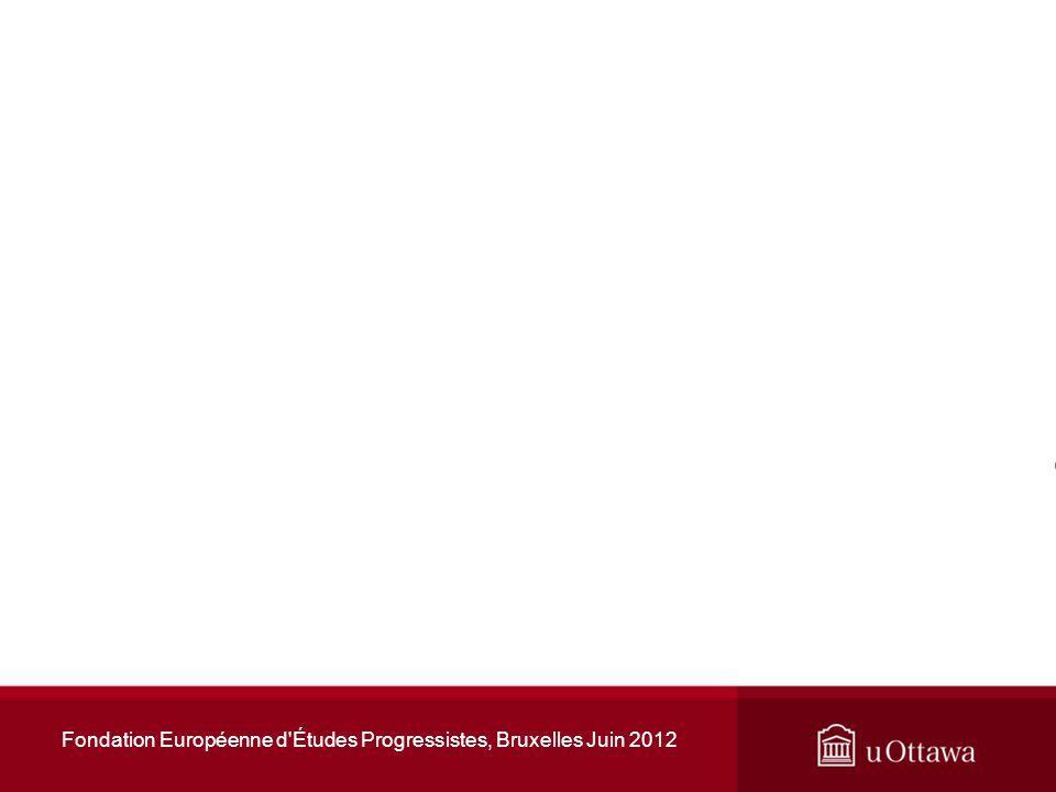 Taux de chômage en zone euro Fondation Européenne d Études Progressistes, Bruxelles Juin 2012