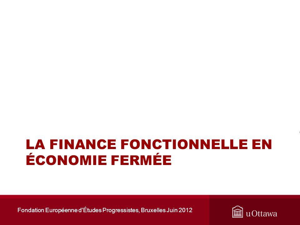Canada, Fédéral, solde budgétaire/PIB Fondation Européenne d Études Progressistes, Bruxelles Juin 2012