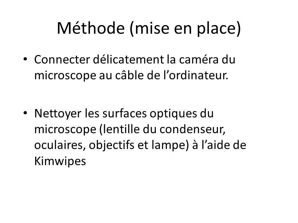 Observations au Microscope 1.Garder une intensité lumineuse relativement faible.