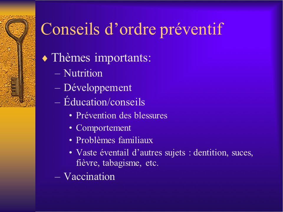 Soins pédiatriques : Outils Rourke Baby Record –De la naissance à 5 ans –http://www.rourkebabyrecord.ca/download_rbr.asphttp://www.rourkebabyrecord.ca/download_rbr.asp Greig Health Records –De 6 à 17 ans http://www.cps.ca/en/documents/position/greig-health-record- technical-report http://www.cps.ca/fr/documents/position/releve-medical-greig- resume