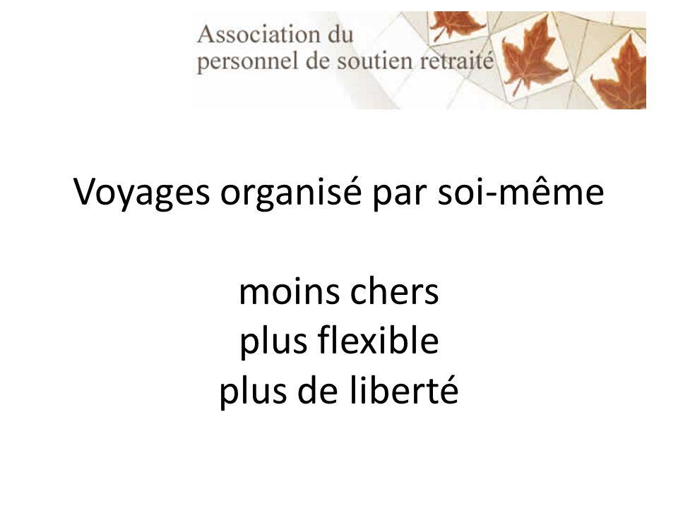 Voyages organisé par soi-même moins chers plus flexible plus de liberté