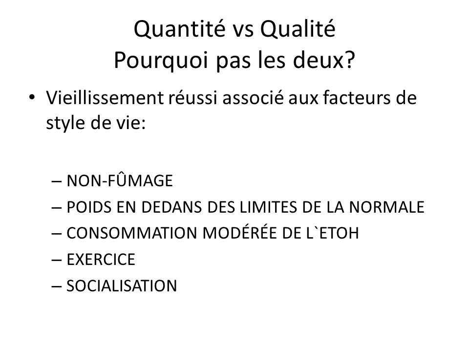 Quantité vs Qualité Pourquoi pas les deux.