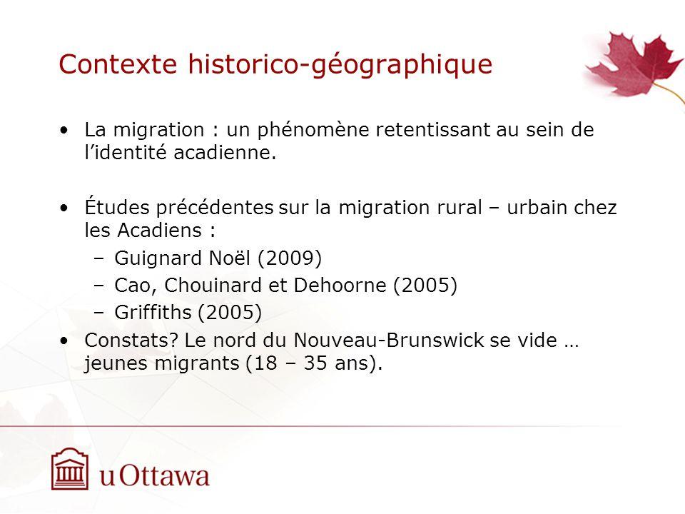 Contexte historico-géographique La migration : un phénomène retentissant au sein de lidentité acadienne.