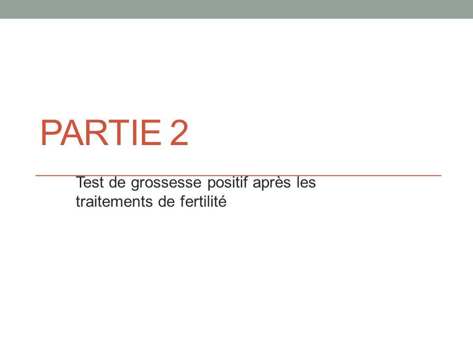 PARTIE 2 Test de grossesse positif après les traitements de fertilité