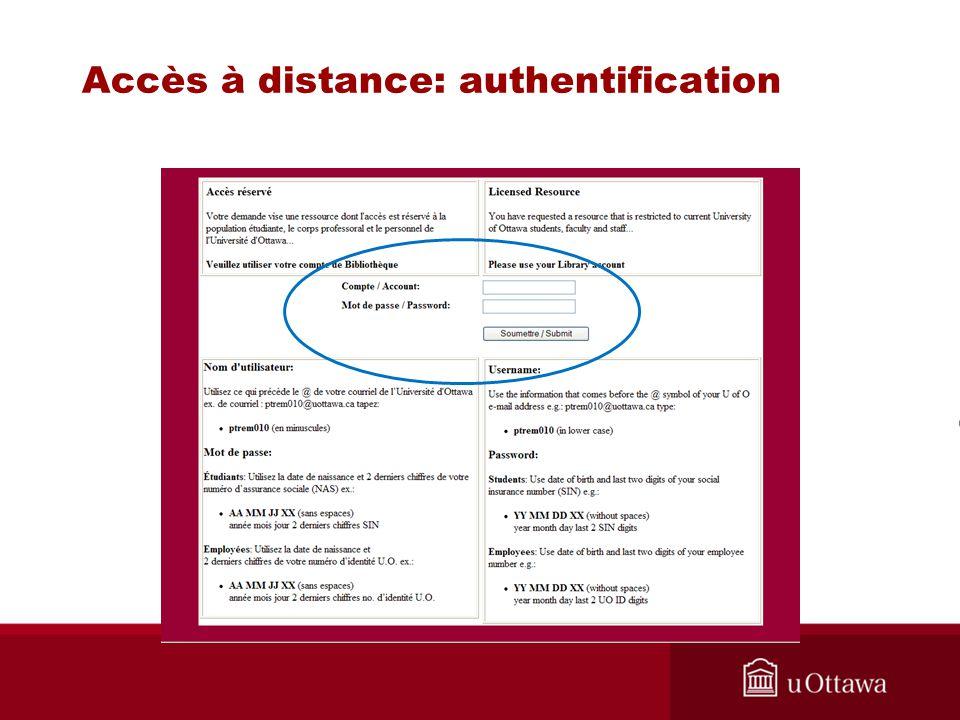 Accès à distance: authentification
