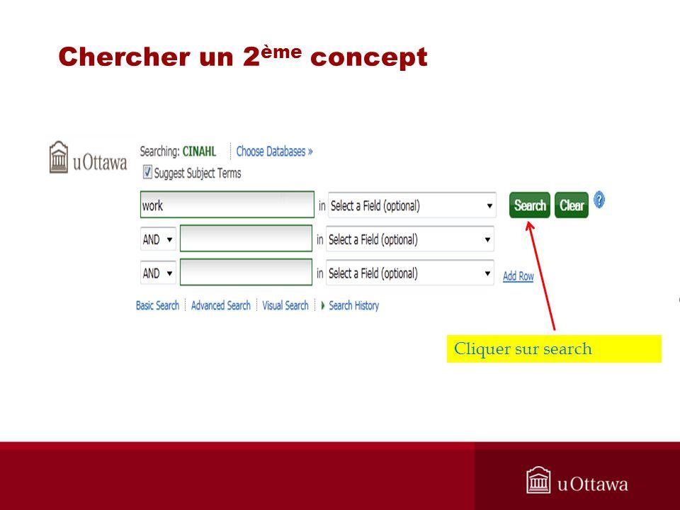 Chercher un 2 ème concept N, Cliquer sur search