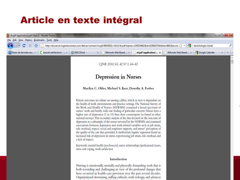 Article en texte intégral
