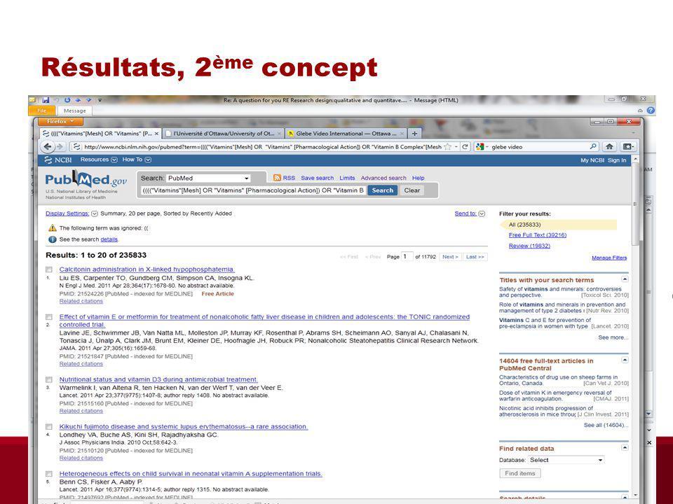 Résultats, 2 ème concept Biblio RGN Jan 2012