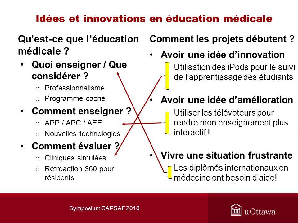 Idées et innovations en éducation médicale Quest-ce que léducation médicale .