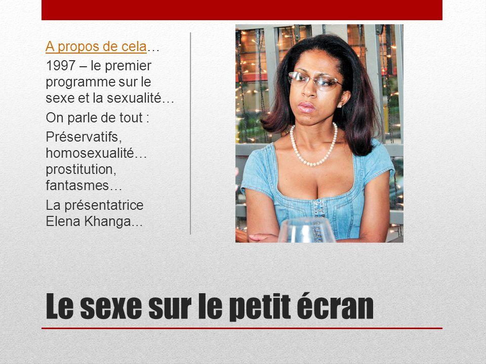 Le sexe sur le petit écran A propos de celaA propos de cela… 1997 – le premier programme sur le sexe et la sexualité… On parle de tout : Préservatifs,