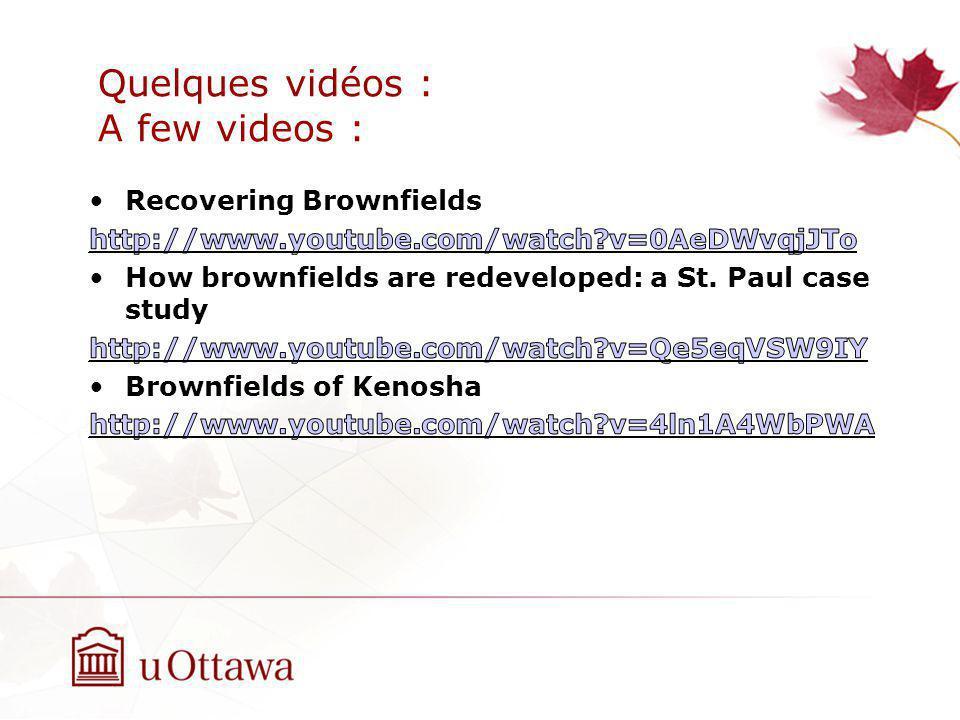 Quelques vidéos : A few videos :
