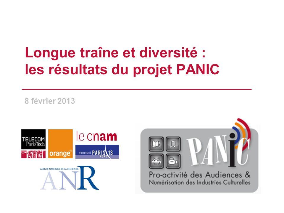 Longue traîne et diversité : les résultats du projet PANIC 8 février 2013