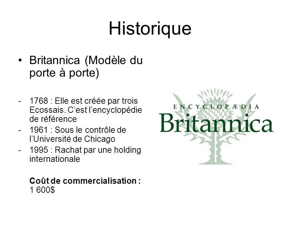 Historique Britannica (Modèle du porte à porte) -1768 : Elle est créée par trois Ecossais.