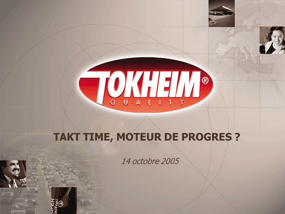 Marketing Department, Tokheim Le takt time est le reflet d une consommation idéale par les clients.