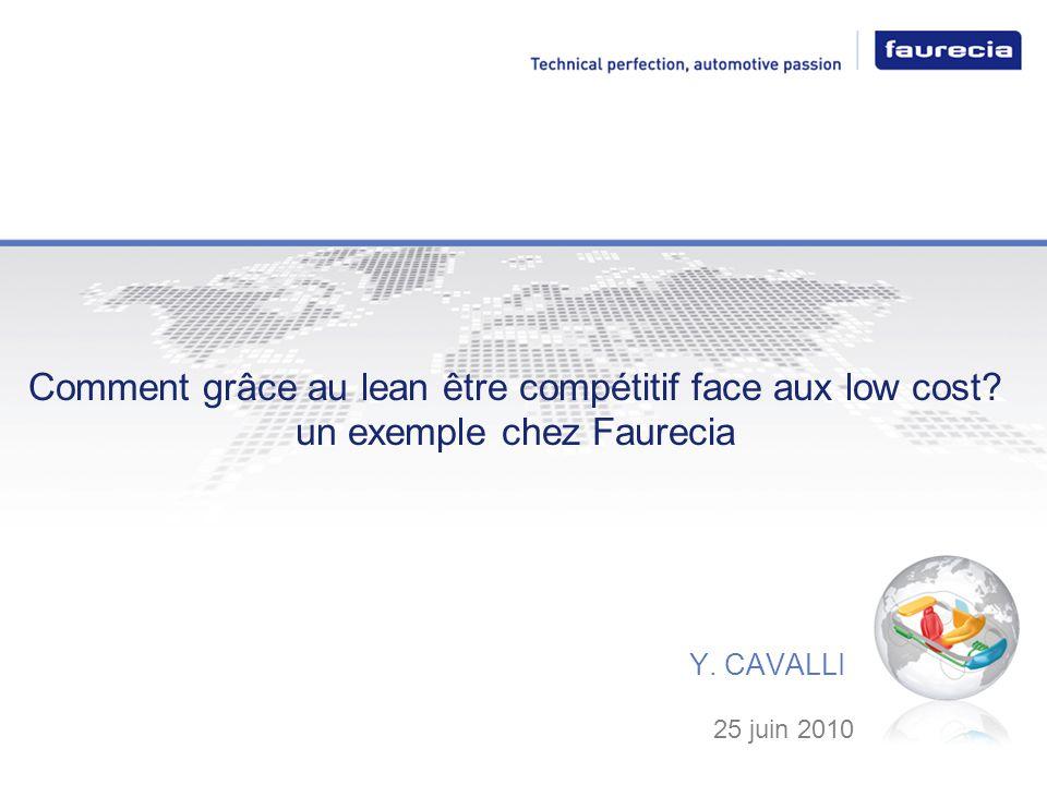 Comment grâce au lean être compétitif face aux low cost? un exemple chez Faurecia Y. CAVALLI 25 juin 2010