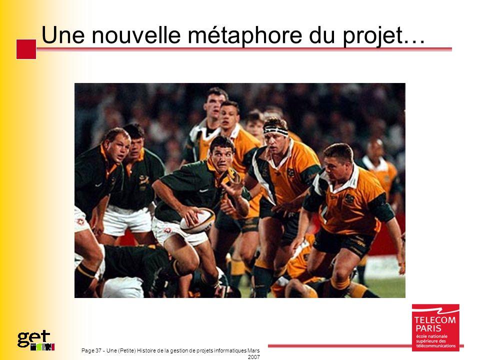 Page 37 - Une (Petite) Histoire de la gestion de projets informatiques Mars 2007 Une nouvelle métaphore du projet…