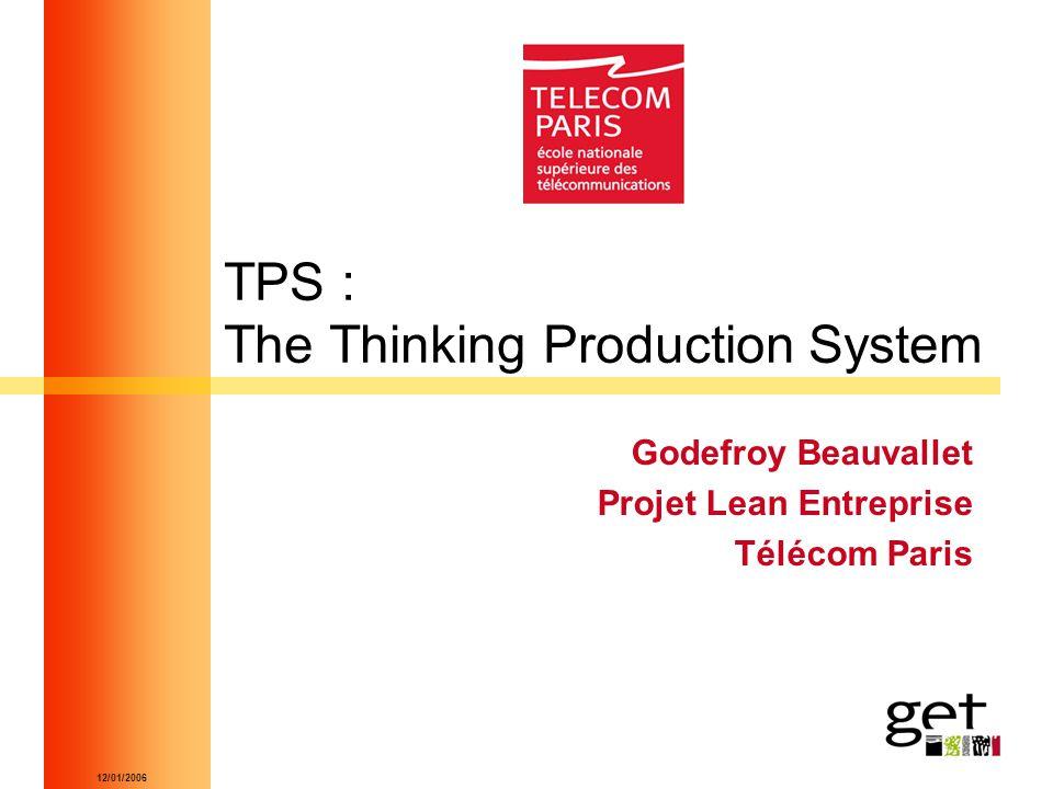 12/01/2006 TPS : The Thinking Production System Godefroy Beauvallet Projet Lean Entreprise Télécom Paris