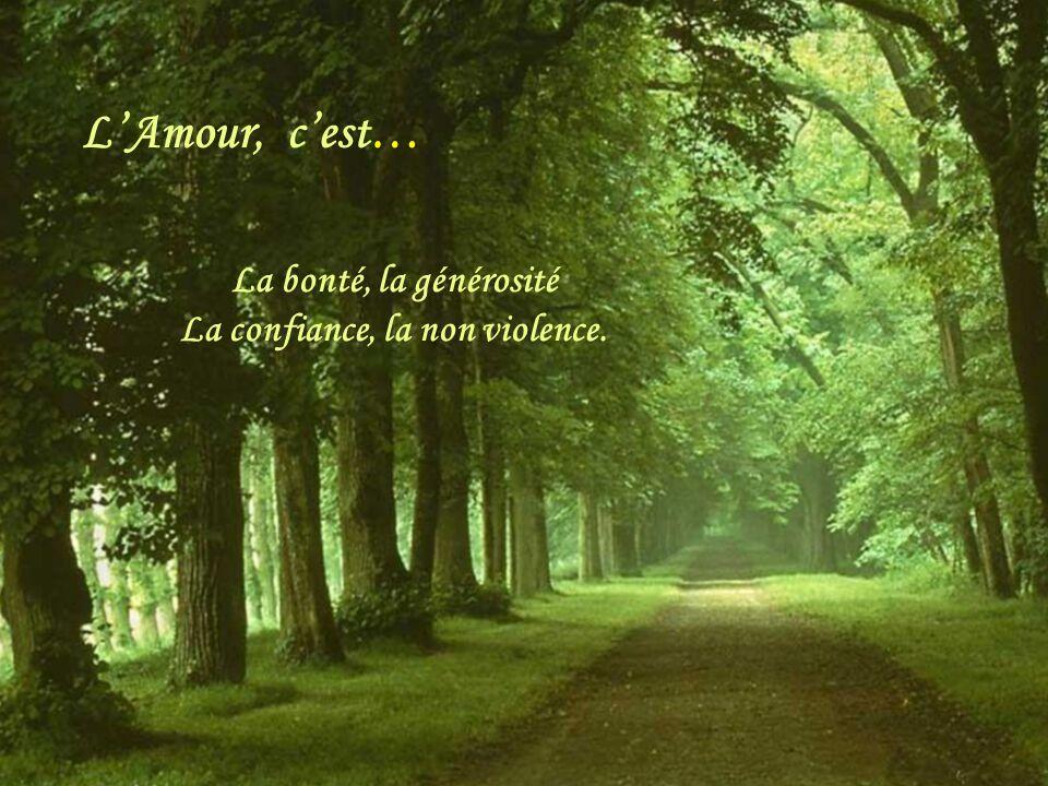 LAmour LAmour, cest… Le respect, le partage La patience, la tolérance.