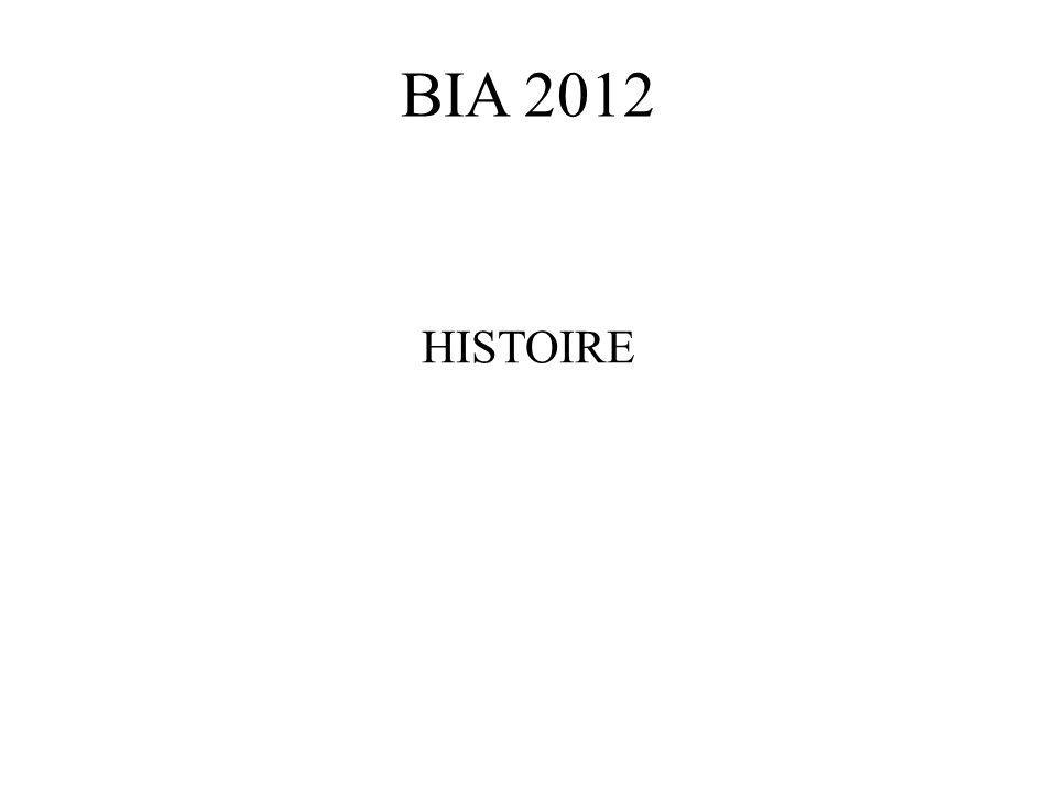 BIA 2012 HISTOIRE