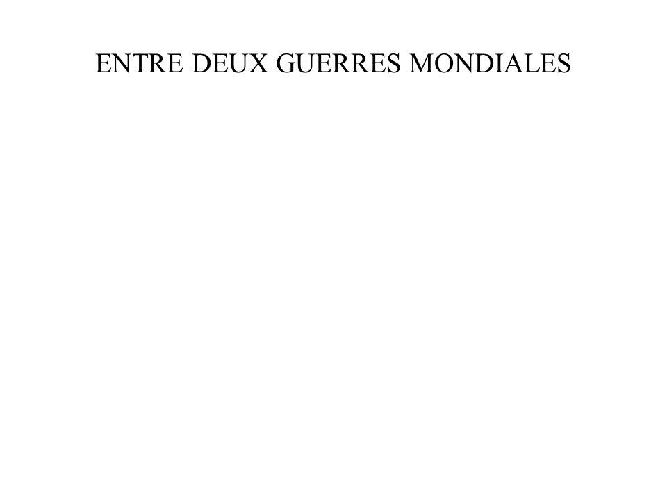 ENTRE DEUX GUERRES MONDIALES